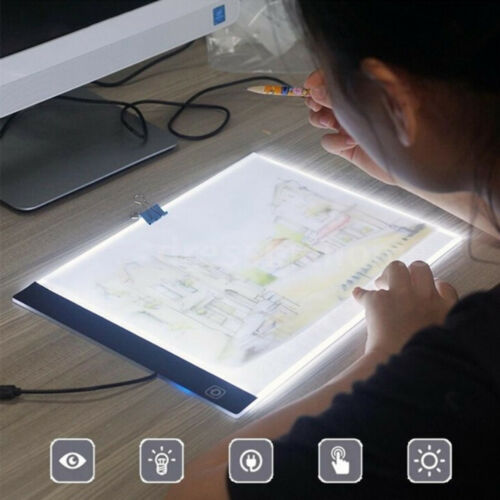 A4 LED Artcraft Tracing Light Pad USB Copy Board Tracer For