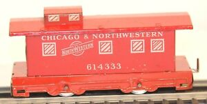 Freight Cars Tireless Hafner Overland Flyer Chicago & Northwestern Red Metal Tin-litho 4 Wheel Caboose Model Railroads & Trains