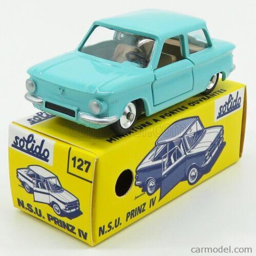 SOLIDO 1001271 SCALA 1//43 NSU PRINZ IV 1963 GREEN MODEL NEW
