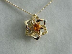 1f6e8aa6b Image is loading Clogau-9ct-Welsh-Gold-Eternal-Daffodil-Citrine-Pendant-