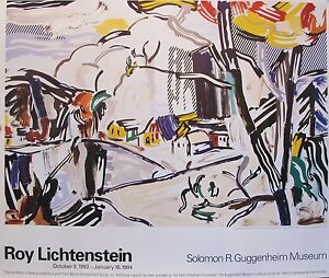 1994 roy lichtenstein guggenheim exhibition poster ebay for Poster roy lichtenstein