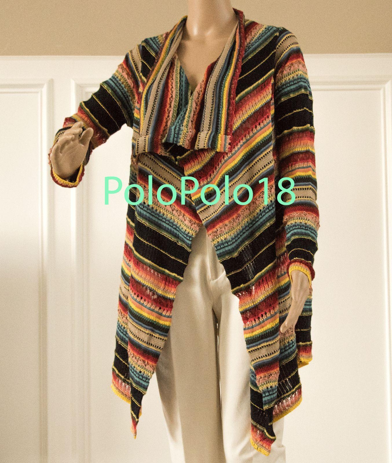Nouve598 Polo Ralph Lauren Femme Linen Knit Cardigan Sweater XS S M L
