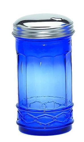 Cobalt Blue Glass Sugar Shaker Bar ware Kitchen Restaurant Pub Kitchenware