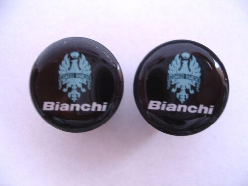 Bianchi handlebar bike caps Bianchi Bike frame logo end plugs Bianchi caps