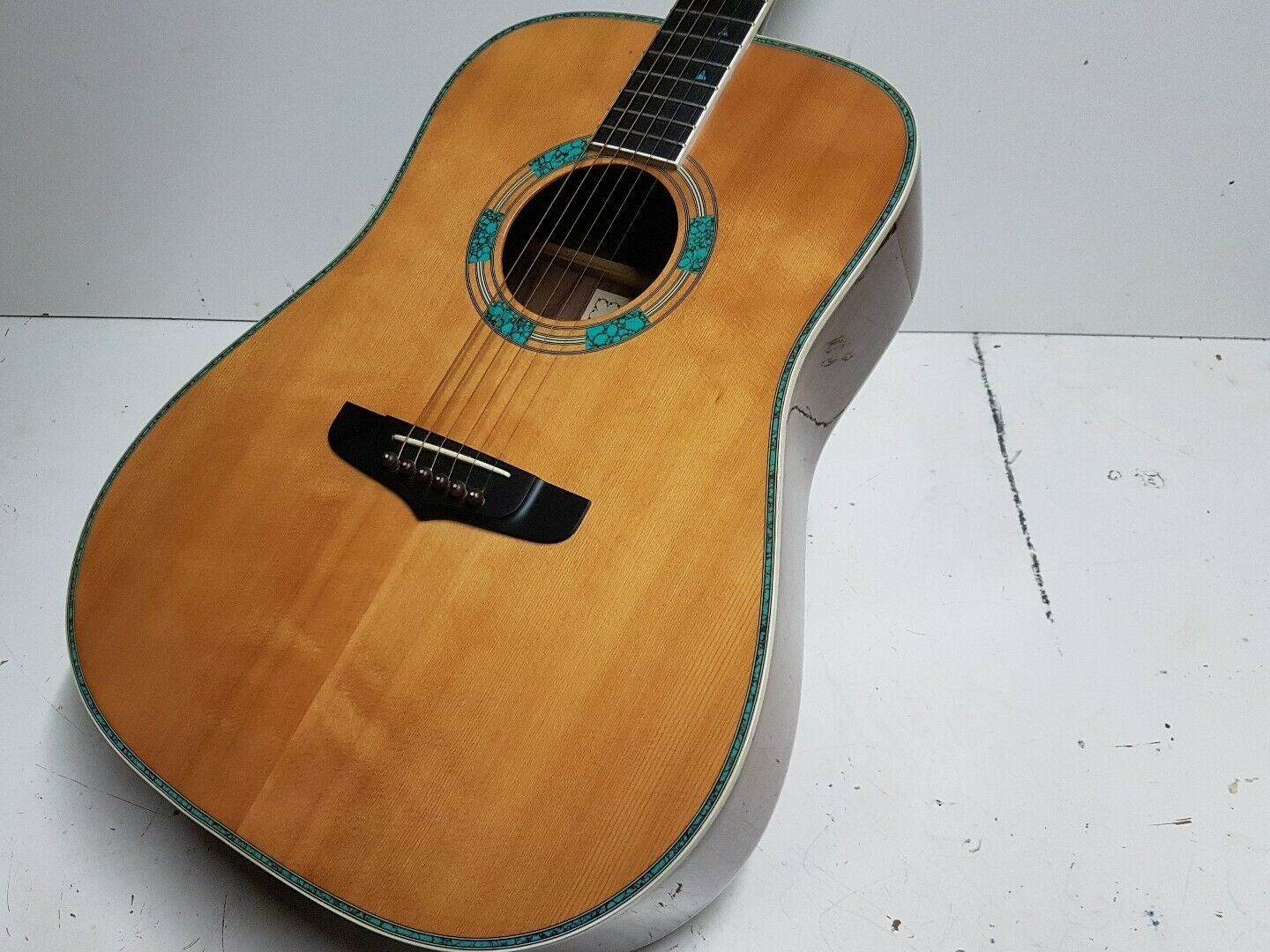 90's FENIX D 92 RS - SOLID TOP & TORQUOISE INLAYS - TOP SOUND