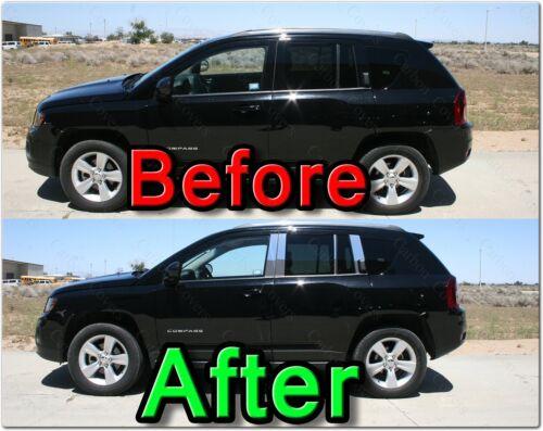 CHROME Pillar Posts for Cadillac SRX//SRS 04-09 6pc Set Door Cover Mirrored Trim
