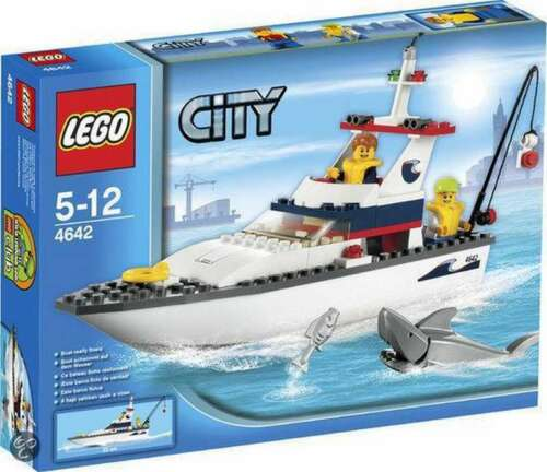 2011 Fishing Boat Precut Custom Replacement Stickers for Lego Set 4642