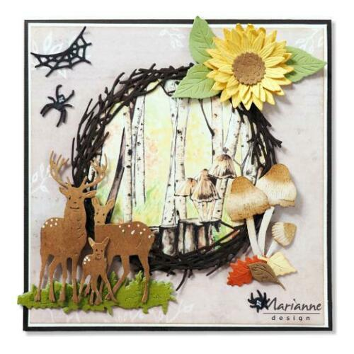 Marianne Design A4 cardtoppers Hoja-Tiny /'s otoño IT612