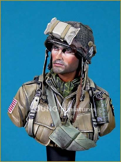 Young Mins US Paratrooper 101st Airborne 1944 YM1807 Bust Unpainted Kit
