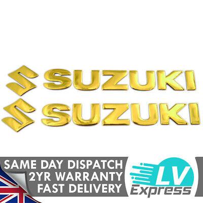 BTZHY 1 Paar 3D-Gold-Motorrad-Gas-Kraftstoff-/Öltank-Abziehbild-Aufkleber Motorrad-Emblem-Abzeichen-Motorrad-Zubeh/ör