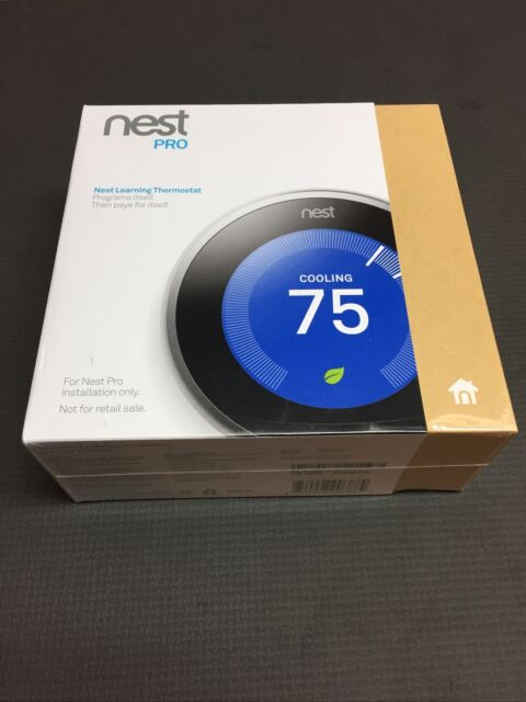 Nest T3008US 3rd Generation Learning Thermostat Programmable Stainless Steel