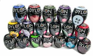 22 colori Dylon Fabric & tessuto Abiti Dye lavare in lavatrice 350g Pod include SALE