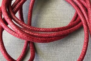 Burgundy Red Dress Shoe Shoelaces Round