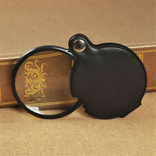 Mini 8X 50mm Pocket Folding Magnifing Glass Magnifier High-definition New
