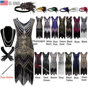 1920s-Flapper-Beaded-Dress-Gatsby-Wedding-Party-20-039-s-Prom-Formal-Evening-Dresses