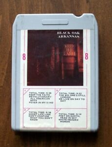 BLACK-OAK-ARKANSAS-8-track-tape-KEEP-THE-FAITH-1972-Atco-Records-ATC-M-8381