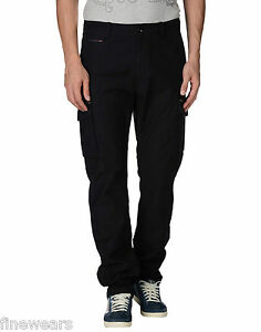 78147389 Mens Diesel Cargo Combat Trousers Jeans Black New 31 32 33 36 38 RRP ...