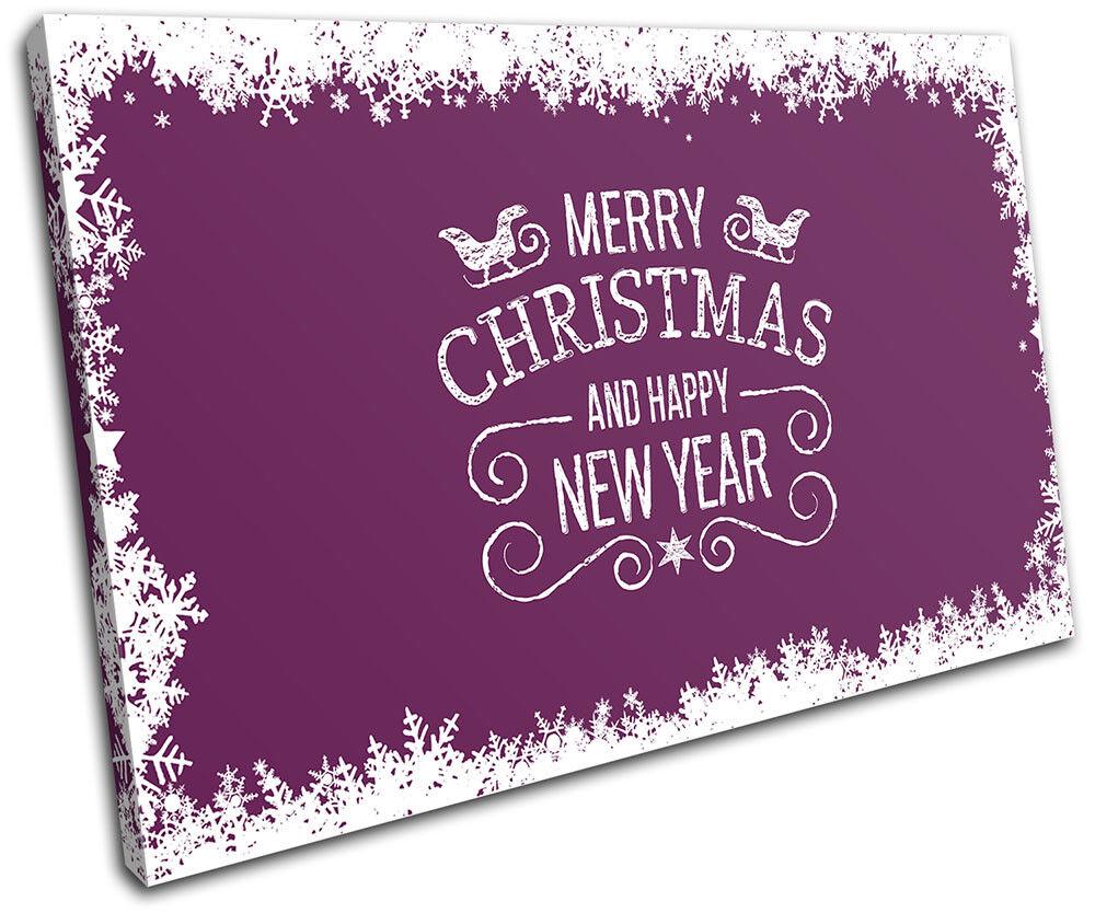 Christmas Decoration Wall Canvas ART Print XMAS Picture Picture Picture Gift  06 viola Christma aa353f