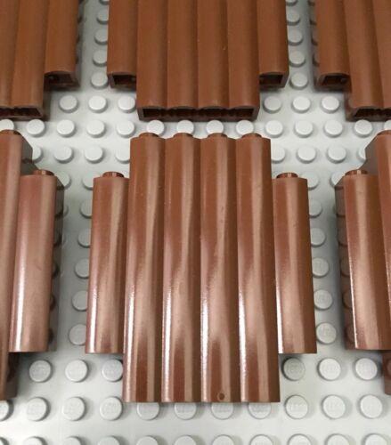 6769 6249 6088 LEGO Lot of 10 Brown Panel 2 x 6 x 6 Log Wall Palisade 6762