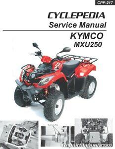 Kymco Mxu 250 Atv Printed Service Manual Ebay