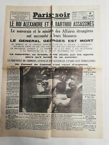 N316-La-Une-Du-Journal-Paris-soir-10-octobre-1934-souverain-et-barthou-assassine