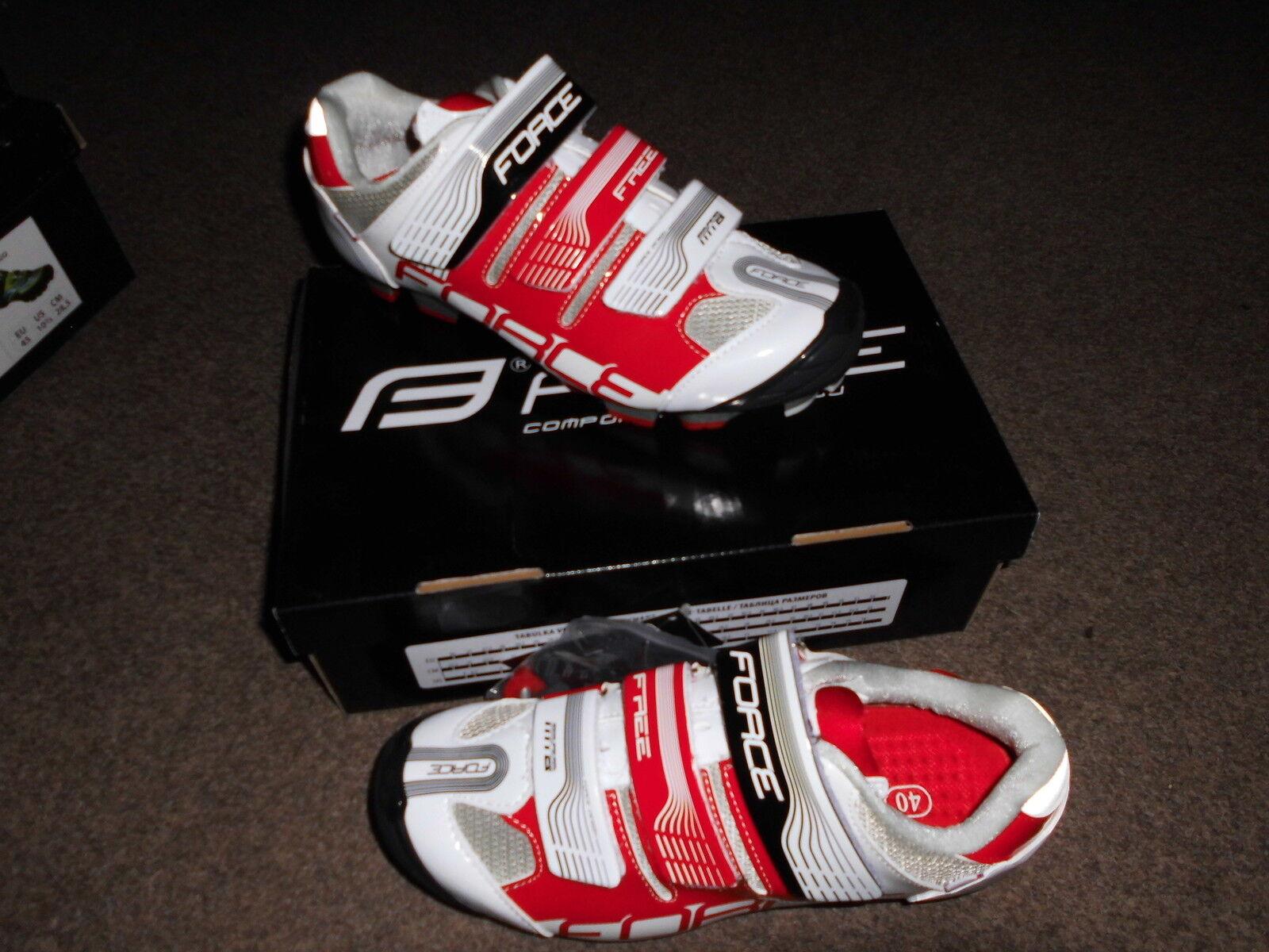 MTB zapatos Force free, blancoo rojo. nuevo