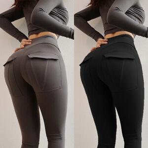 Womens PUSH UP Yoga Leggings Pants Fitness High Waist Runnin Gym Sport Trousers