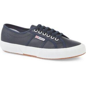 Superga-2750-efglu-Unisex-Calzado-Zapato-Azul-Marino-Todas-Las-Tallas