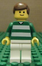 LEGO MINIFIGURE– SPORTS – SOCCER – GREEN & WHITE TEAM #10 – GENTLY USED