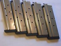 1911 .40 Cal. Mag, Magazine,mags, 1/4 Removable Base 5 Mags,9 Shot, Stainless