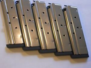 SALE-1911-type-40-cal-mag-magazine-mags-1-4-034-base-5-mags-8-shot-stainless