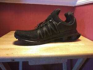 8e482c6dee5e08 New Nike Shox Gravity Men s Sneaker Triple Black Size 10