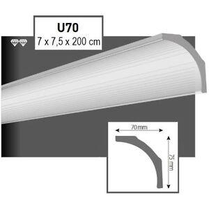 32-Meter-Styroporleisten-Zierprofile-Stuckprofile-Stuckleiste-Dekor-70x75mm-U70