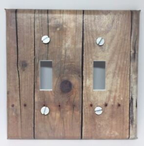 Image Is Loading Barnwood Light Switch Cover Plate Wooden Planks Vintage