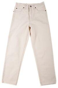 Boy Classic/Straig<wbr/>ht Leg jeans Off white Egle jeans 100% Cotton Size 8-18 Solid