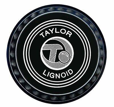 Taylor Lignoid Progrip Heavy Black Short Mat Bowls Pair