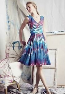 Anthropologie-PLENTY-by-TRACY-REESE-Gallery-Row-Dress-Size-6-Fit-And-Flare-1685