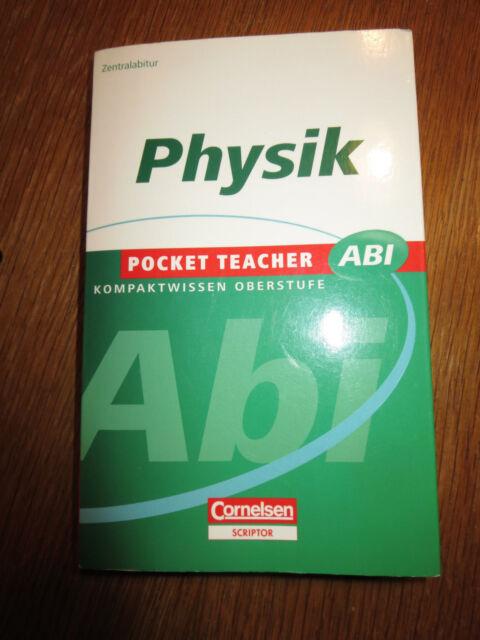 Physik Kompaktwissen Basiswissen Oberstufe Pocket Teacher Abi Cornelsen