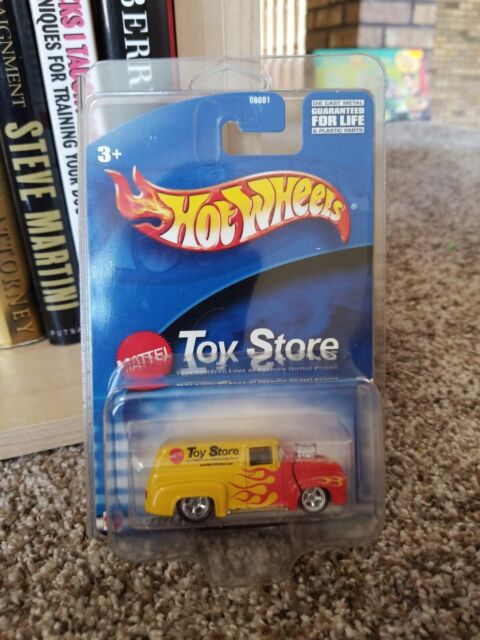 56 FORD F-100 PANEL Mattel Toy Store Exclusive Yellow//Red W//RR HOT WHEELS