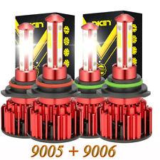 4side 90059006 Led Combo Headlight Kit Cob 240w Light Bulbs High Low Beam Lamp Fits 2002 Mitsubishi Eclipse