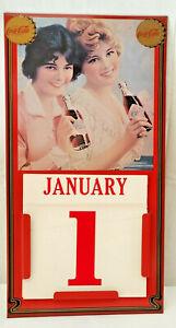 1981 Markatron Coca Cola Soda Coke Advertising Perpetual Calendar Metal