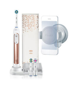 New Oral-B Genius 9000 Electric Toothbrush With 3 Replacement Heads & Smart