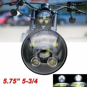 Motorcycle DOT 5-3//4 5.75/'/' Black 100W Hi//Lo Sealed Projector LED Headlight Bike