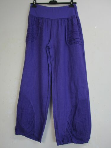 LINO ITALIAN  TROUSERS IN 11 COLOURS BNWT ONE LAGENLOOK 100/% LINEN SIZE 12-16