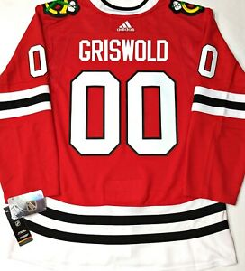 Pro 54 Chevy Chase Clark Griswold Blackhawks Adidas Climalite Authentic Jersey Ebay