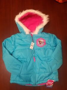 37ce09f747e9 NEW with tags Girls size 4T Disney Frozen Puffer Coat /Jacket with ...