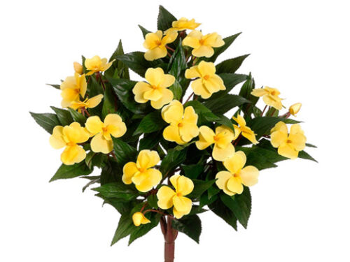 "6 Artificial 13.7/"" New Guinea Impatiens Bush Silk Flower Plant Wedding Decor 3YE"