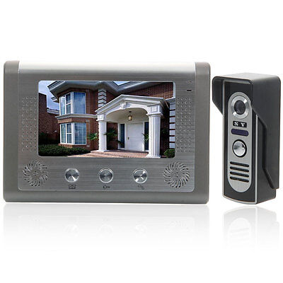 "7"" Wired Video Door Phone Doorbell Intercom Night Vision Camera Home Security US"