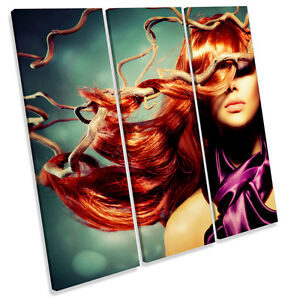 Fashion-Beauty-Tangled-Hair-CANVAS-WALL-ART-TREBLE-Square-Print-Picture