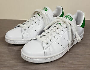 newest e3d72 0cf4b Details about adidas 'Stan Smith' Sneaker, White Leather, Green Trim, Men's  Size 6 / 38-2/3
